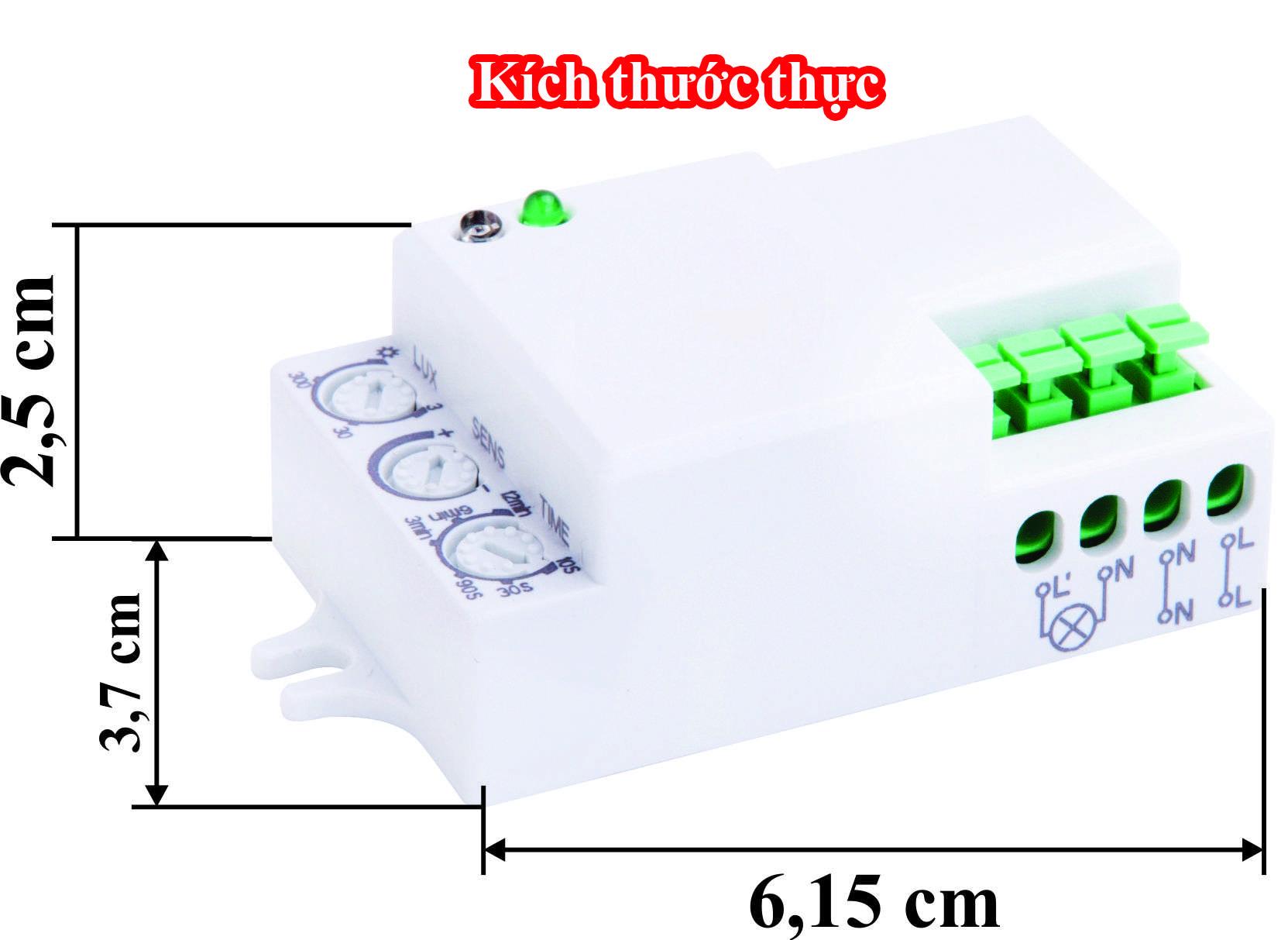 Kích thước Cảm ứng vi sóng RS02D