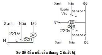 sơ đồ đấu dây cam ứng đèn cầu thang SS201