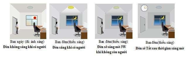 Cơ chế hoạt động của các loại đèn ốp trần tại Kawasan